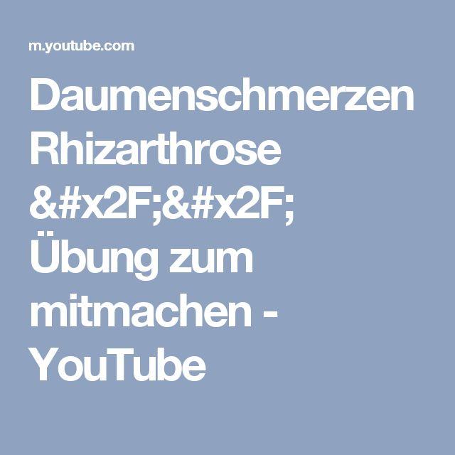 Daumenschmerzen Rhizarthrose // Übung zum mitmachen - YouTube