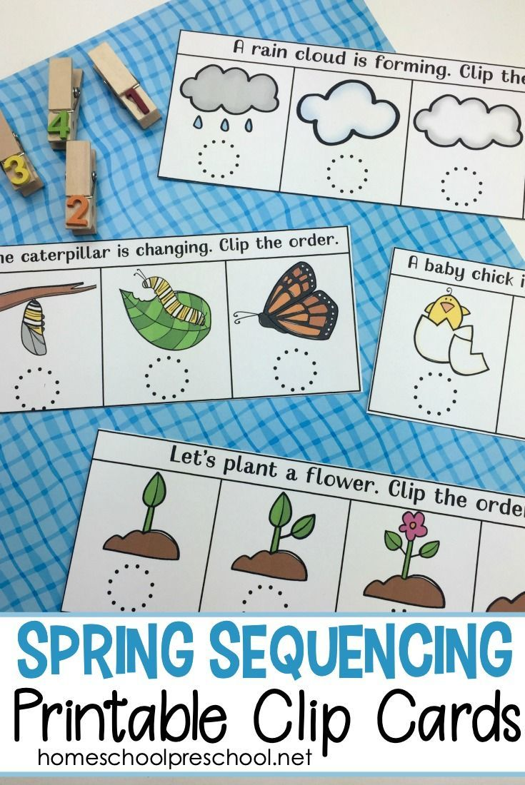 Spring Sequencing Cards Printable For Preschoolers Free Preschool Printables Sequencing Cards Preschool Printables [ 1100 x 735 Pixel ]