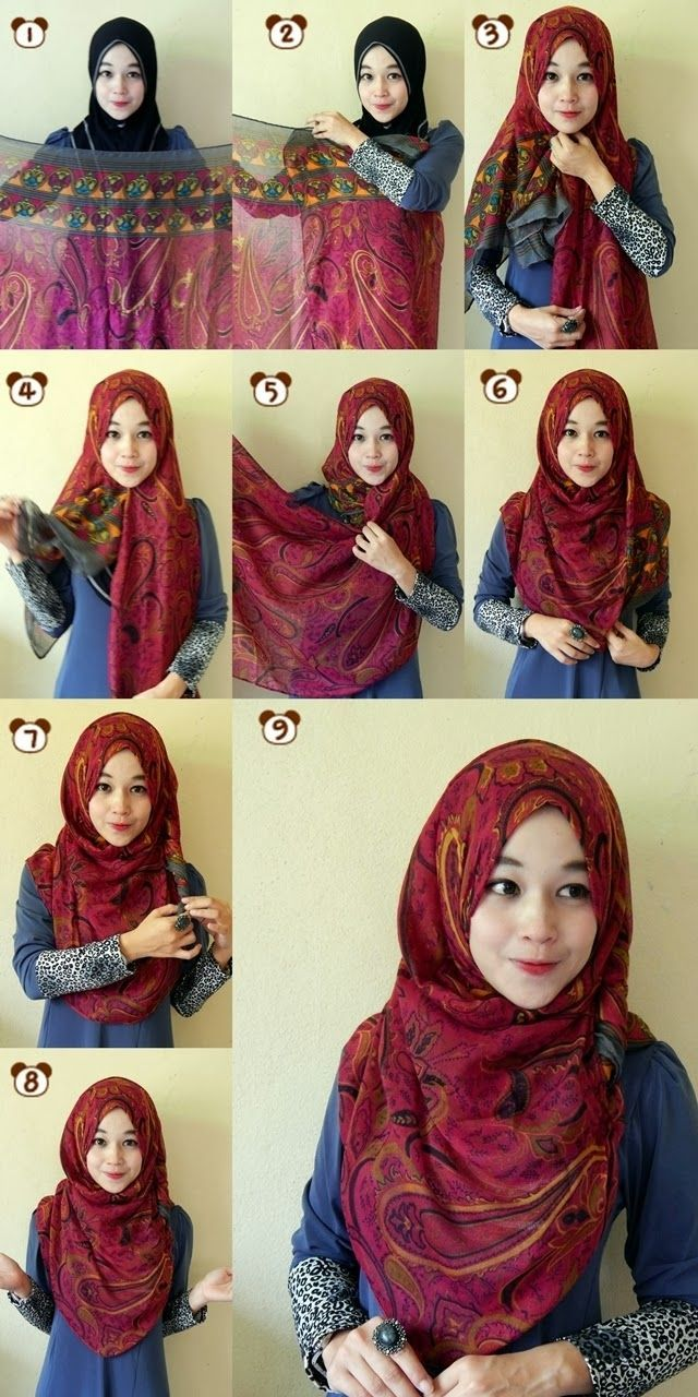 17 Best Ideas About Tutorial Hijab Segitiga On Pinterest Square
