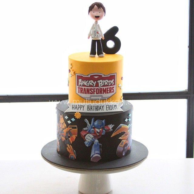 Angry bird transformers birthday cake  #mutludukkan #sekerhamuru #butikpasta…