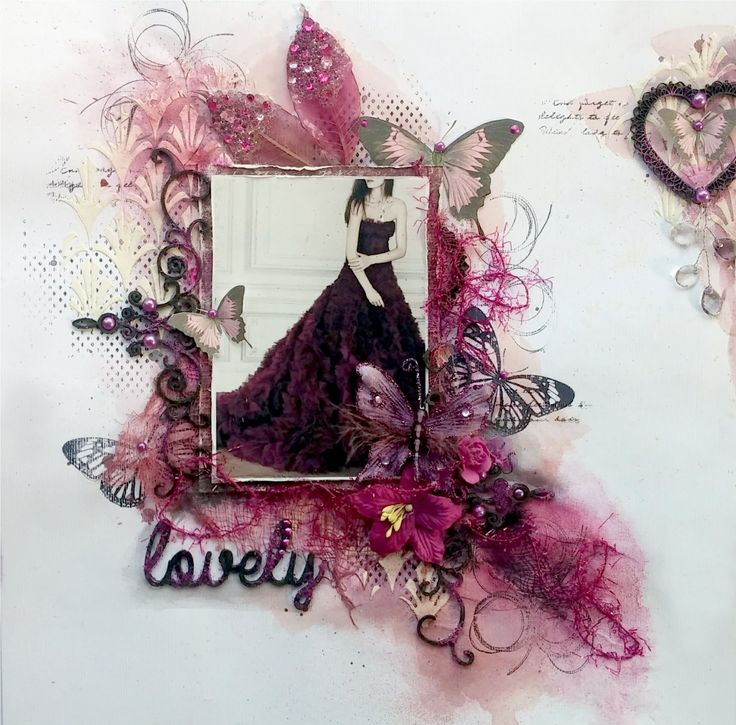 Mixed Media Scrapbook page Tutorial by Gabrielle Pollacco, featuring Dusty Attic Chiipboard, Shimmerz Paints and Stamps designed by Gabrielle for The Scrapbo...
