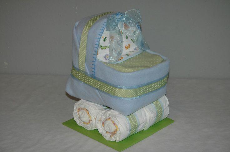 おむつケーキ Diaper Carriage Diaper Cake