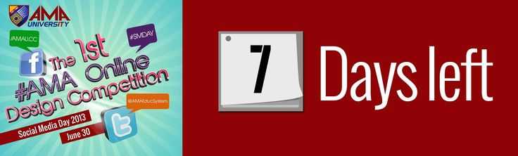And the countdown continues! Exactly 1 week to go before the deadline of submission of entries to the 1st#AMAOnline Design Competition!