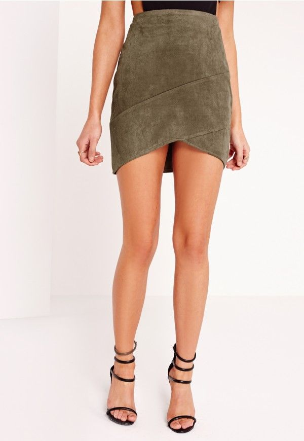We're totally in love with this skirt, faux sure! Suede and leather skirts are two of THE biggest trends, so grab your slice of the action in this faux suede mini skirt. This little beaut features side zip fastening, wrap over detail and su...