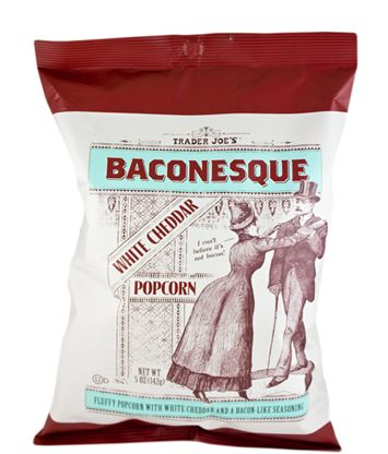 Baconesque White Cheddar PopcornWe like bacon on everything, so why not popcorn?  #refinery29 http://www.refinery29.com/party-food#slide-10