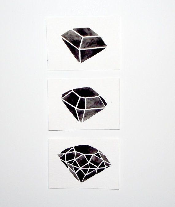 Custom Listing for Maria - ACEO - Original Watercolor - Geometric Diamond Set    http://picturesfunnys.blogspot.com/