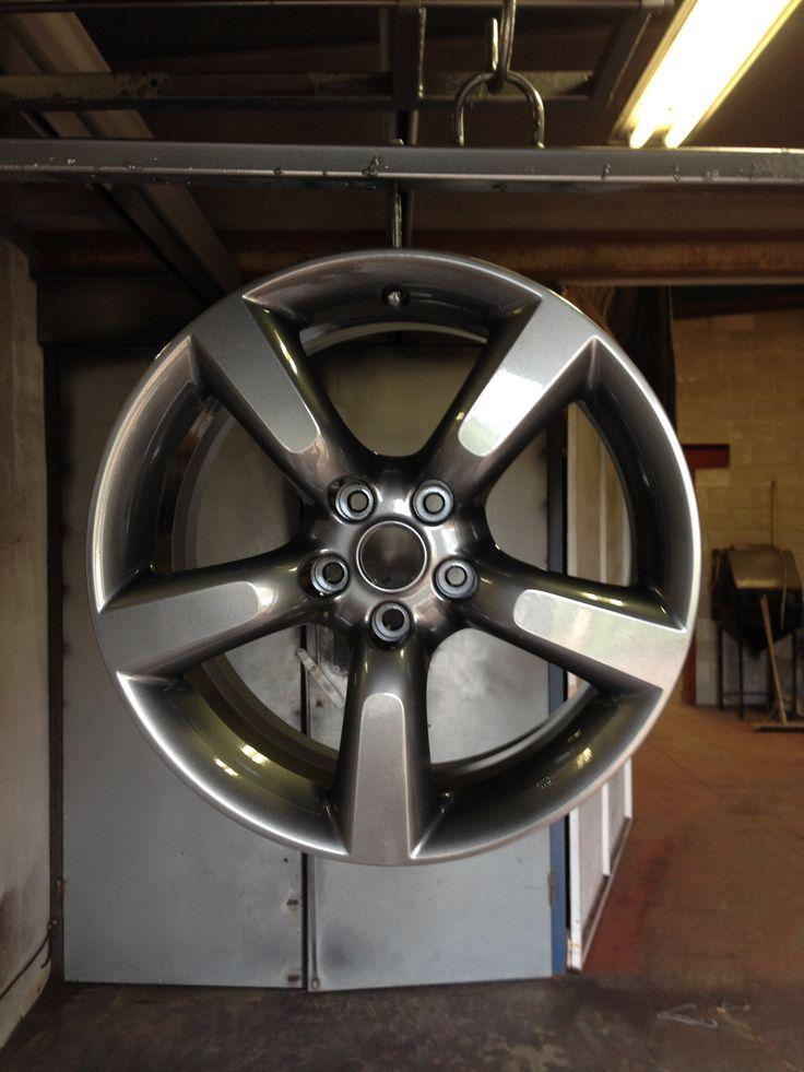 NIssan 350Z wheels done in gun metal grey by donegalpowdercoating company
