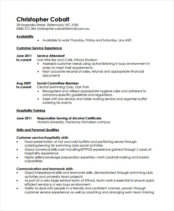 casual work resume template resume references template for