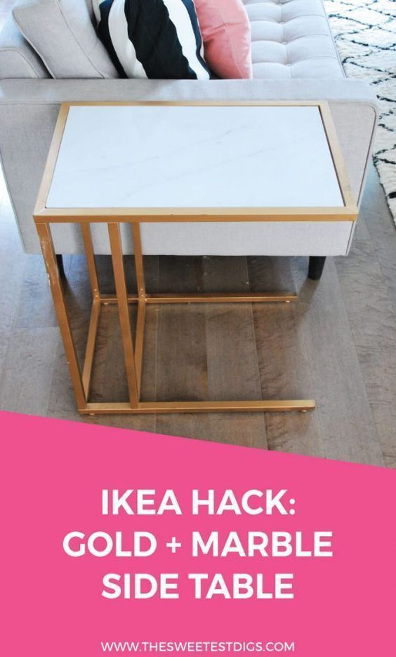 IKEA Hack: Verwandeln Sie den Vittsjo in einen Gold- und Marmor-Beistelltisch vittsjo verwandeln marmor einen beistelltisch