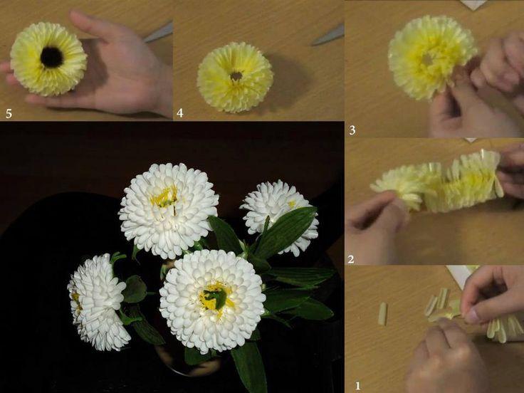 DIY Drinking Straw Flower LIKE Us on Facebook ==> https://www.facebook.com/UsefulDiy