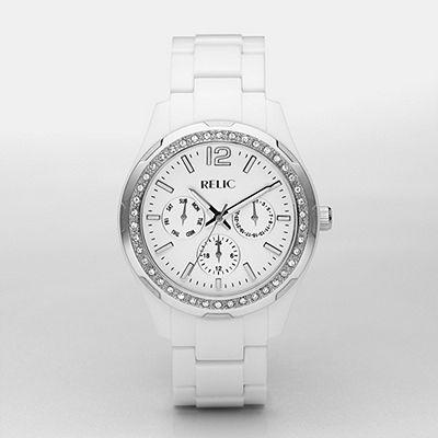 Relic Starla White Multifunction Watch $75