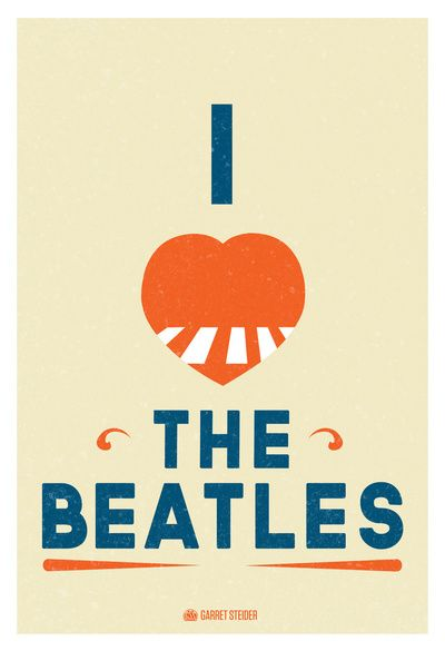 I LOVE THE BEATLES $22.00 #prints #Thebeatles