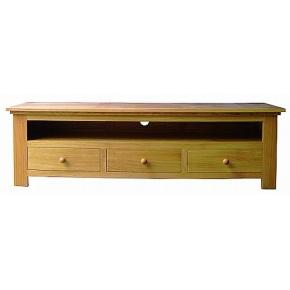 Lacar Solid Oak Three Drawer Media Unit  www.easyfurn.co.uk
