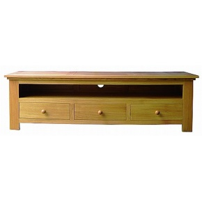 Lacar Solid Oak Three Drawer Media Unit  www.easyfurn.co.uk