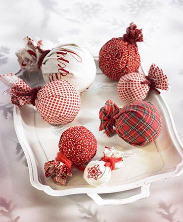 M s de 1000 ideas sobre adornos de navidad de tela en for Bolas navidad fieltro