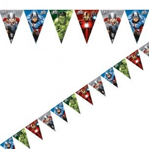 Avengers Heroes Plastic Party Flag Banner - Decorations & Games - Superhero Parties - Party Themes A-Z - Kids' Party