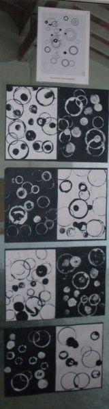 black and white circle prints