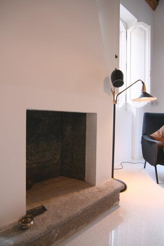Fireplace detail Private appartment in the heart of #Rome Collaborator with Manfredi Pistoia Architetti