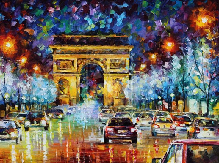 Paris Flight- Leonid Afremov by Leonidafremov.deviantart.com