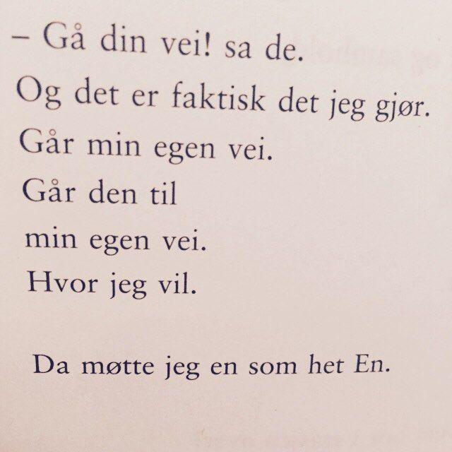 Av Annie Riis fra samlingen En som het En.  #annieriis