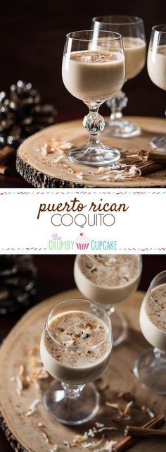 Not the biggest fan of eggnog? Give it's tropical Puerto Rican cousin a try - coconut-based Coquito is rich, creamy, full of rum, and ready for any holiday party! #coquito #puertorican #rum #party #cocktail #drink #recipe #holiday #coconut #coconutrum