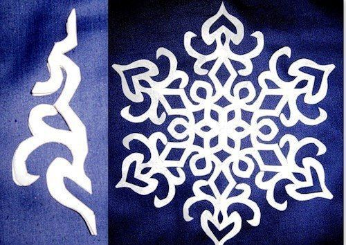 Beautiful paper snowflake from template #craft #snowflake