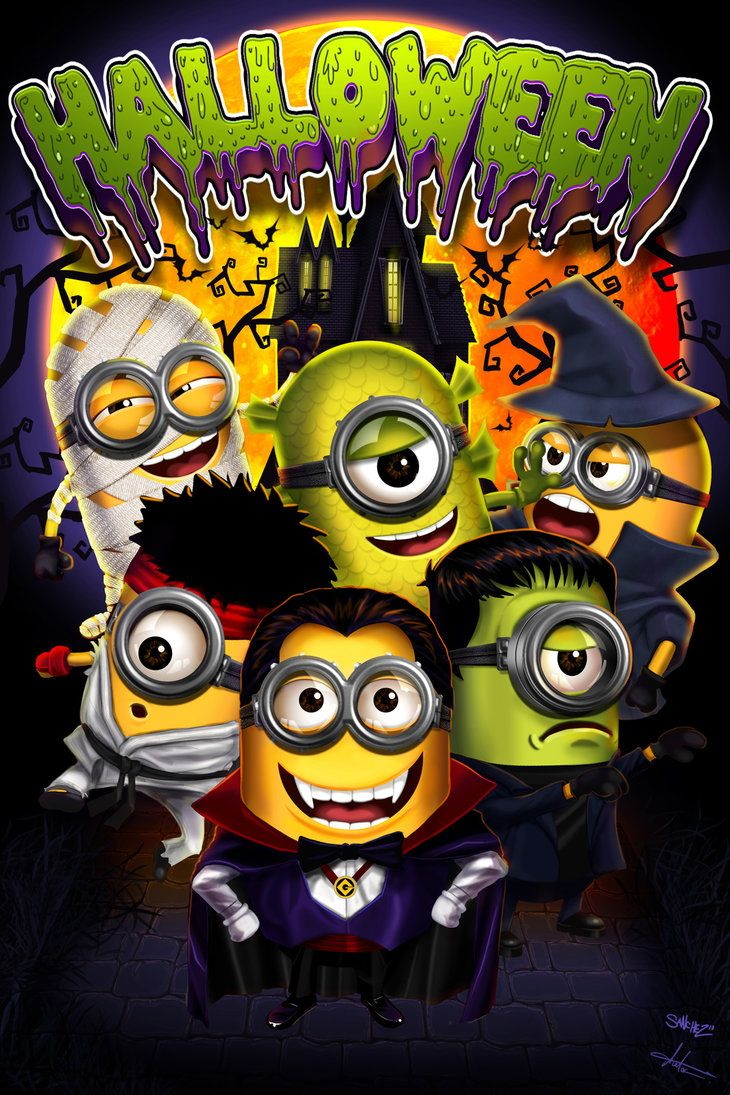 Minions on halloween by victter-le-fou on deviantART