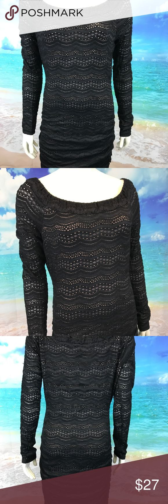 "BCBG Max Azria Black Tan Lace Dress Women's Large BCBG Max Azria Black Tan Lace Dress Women's Large Stretch Party Sheath #780 Measurements Laying Flat:  Armpit to Armpit: 20"" Length: 37"" Waist: 15.5"" Hips: 18"" Sleeve Length: 24"" BCBGMaxAzria Dresses Long Sleeve"