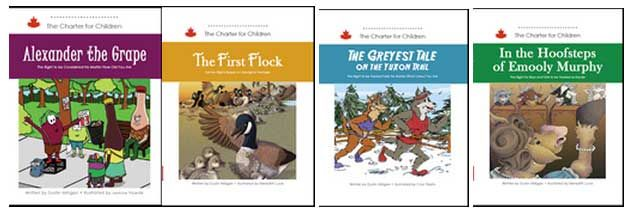 Books that explain the Canadian Charter of Rights and Freedoms in fun and child-friendly ways.