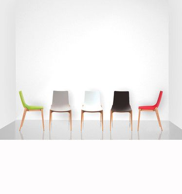 The Savy Chair is a stylish chair that will brighten up every space. It has a molded polypropylene shell with a beech timber base.