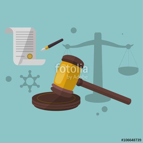 """Téléchargez le fichier vectoriel libre de droits """"Justice hammer design"""" créé par Jemastock au meilleur prix sur Fotolia.com. Parcourez notre banque d'images en ligne et trouvez l'illustration parfaite pour vos projets marketing !"""