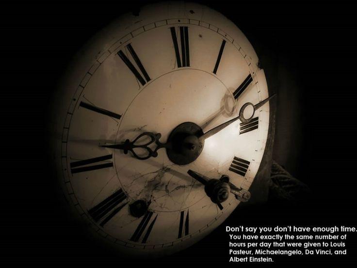 Non dire che non hai abbastanza tempo. Hai esattamente lo stesso numero di ore al giorno che sono state date a Pasteur, Michelangelo, Da Vinci e Albert Einstein.