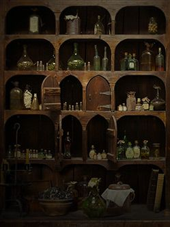 Apothecary Cabinet...learn what herbs you would want to use and which to stay away from.  Link leads to Starz site and scroll down to the Apothecary Cabinet