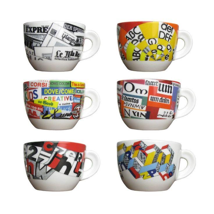 ANCAP Cappuccinokopjes Stampa set van 6