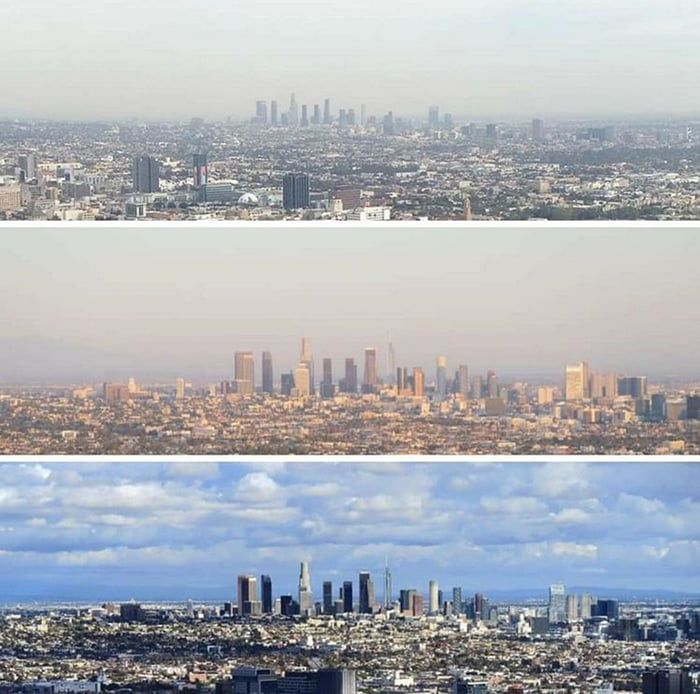Los Angeless Before And After The Lockdown The Difference In Air Quality Within A Week In 2020 Air Amazon Promo Codes Air Quality