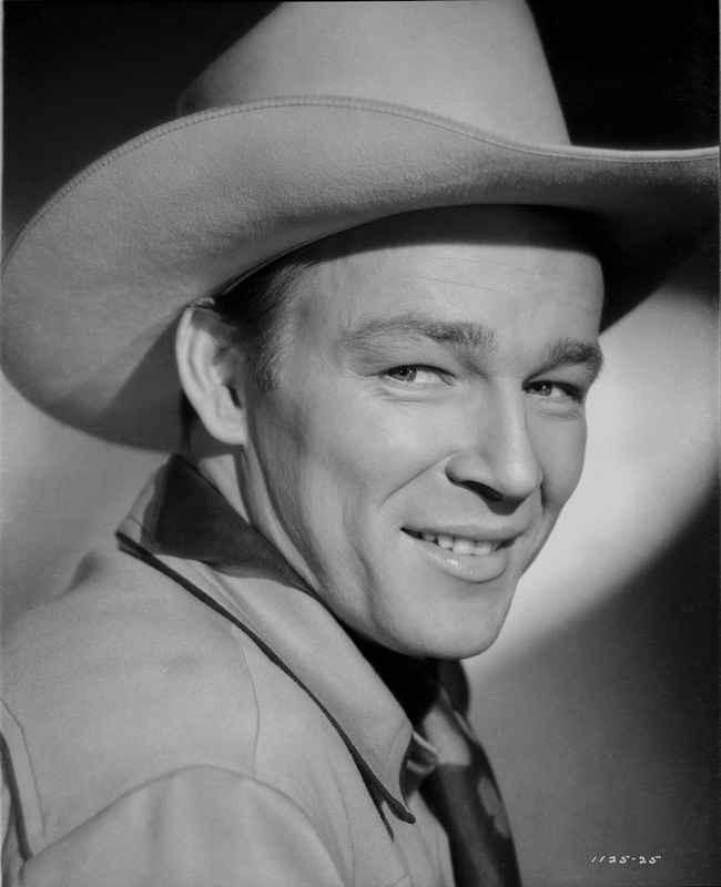 Roy Rogers smiling with Cowboy Hat Premium Art Print