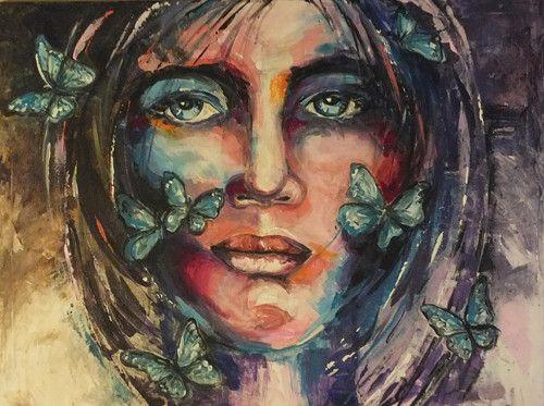 Žena s motýly