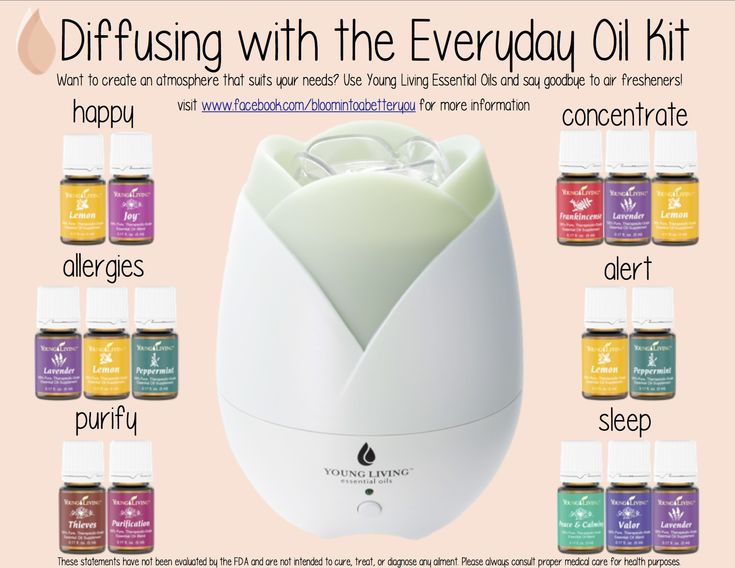 women s winter fashion Young Living Essential Oils  Diffuser with the Everyday Oil Kit