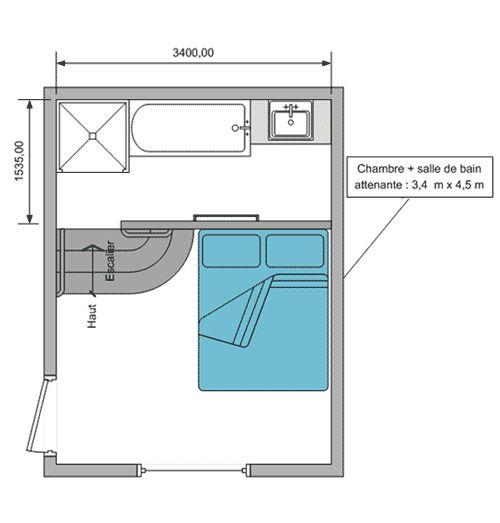 Am nager une salle de bain attenante la chambre for Amenager une salle de bain de 10m2