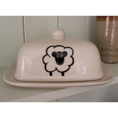 Happy Sheep Butter Dish #gifts #china #mugs #kitchenware