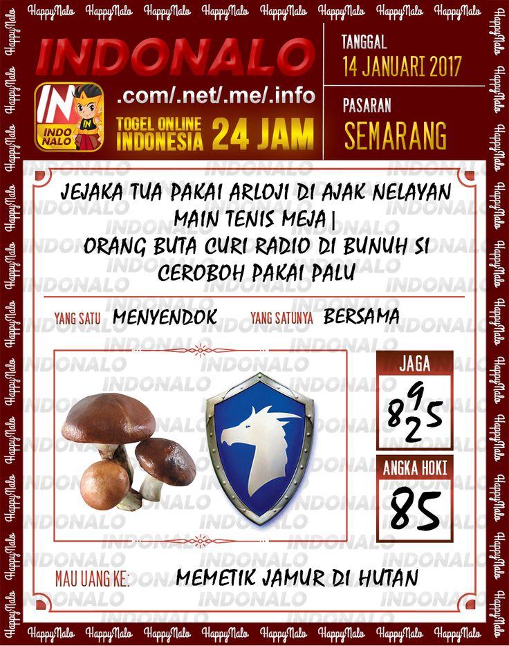 Kode Hoki 2D Togel Wap Online Live Draw 4D Indonalo Semarang 14 Januari 2017