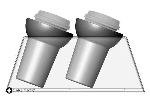 Using something similar to a gyroscope, this unique cup holder allows the cup to move and stabilize during sudden turns and acceleration.