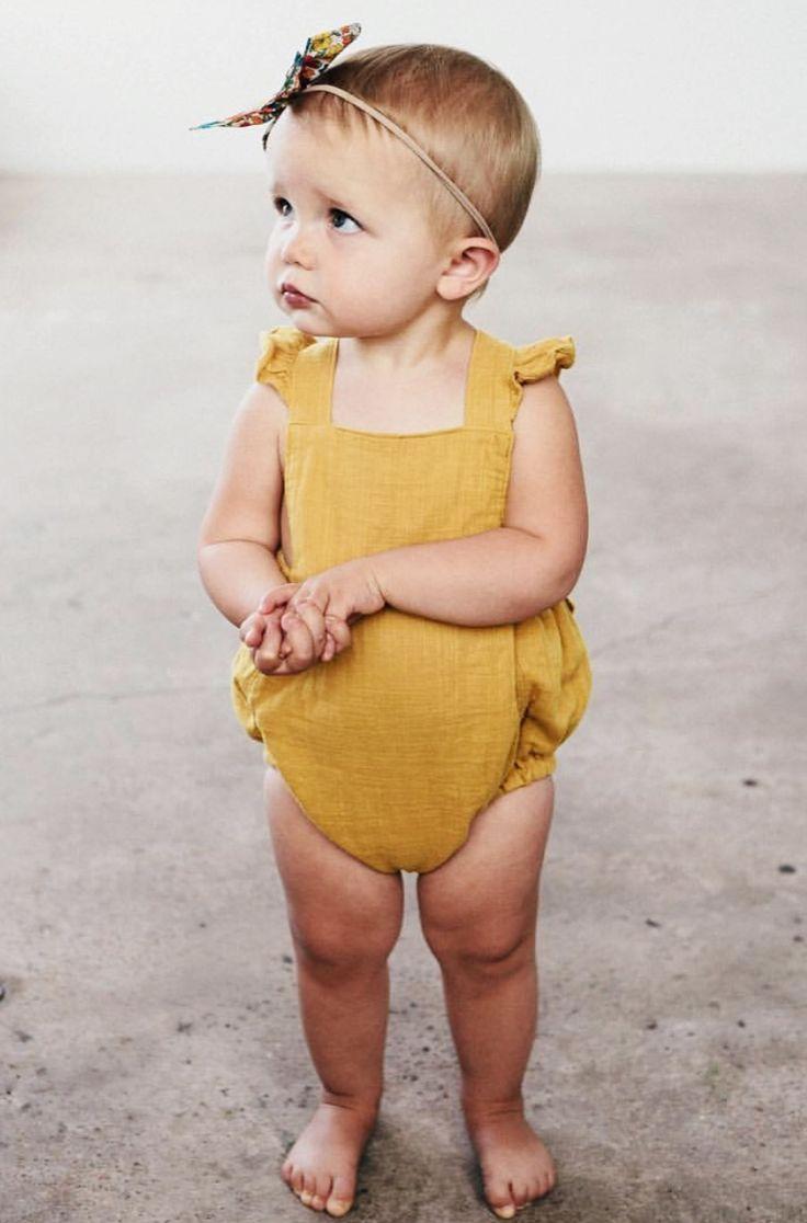 Handmade Ruffled Baby Romper | blytheandreese on Etsy