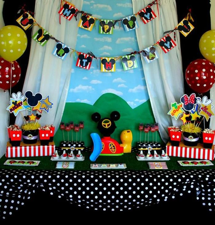Mickey Mouse Clubhouse Party via Kara's Party Ideas. Paper plate place settings are probably the only thing I could duplicate but maybe the Oreos??