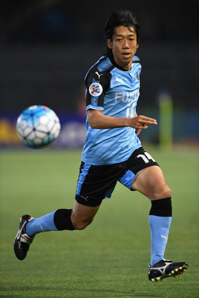 Kengo Nakamura of Kawasaki Frontale in action during the AFC Champions League Round of 16 match between Kawasaki Frontale and Muangthong United at Kashima Stadium on May 30, 2017 in Kashima, Japan.