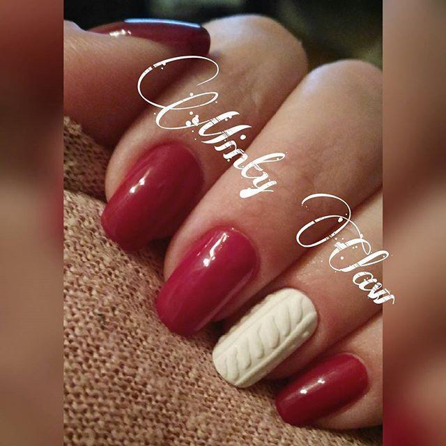 #paznokcie #nails #manicure #instanails #mintyclaw #indigo #naturalnails #hybridnails #hybrydy #knittednails #sweterek #sweterkowepaznokcie @indigonails