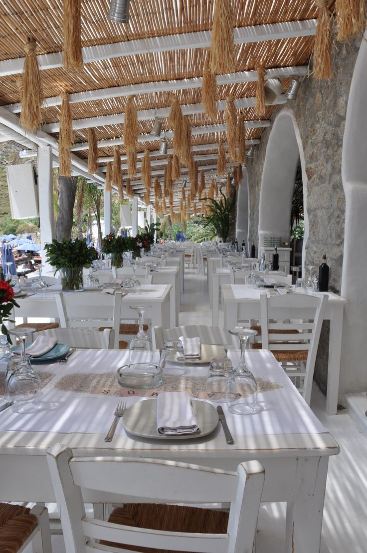 Nammos Beach Restaurant - Mykonos. Spent a legendary afternoon/evening here in June - amazing food, wine, cocktails and dancing on tables!