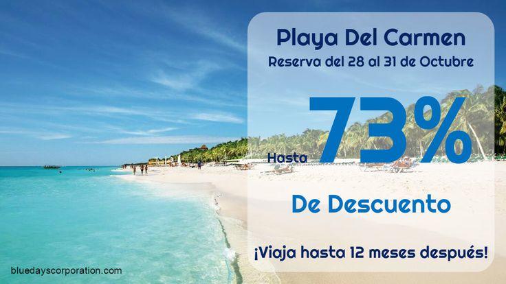 ¿Quieres visitar #PlayaDelCarmen? Aprovecha estos paquetes en oferta que incluyen: 5 días, 4 noches de hospedaje en hotel de lujo #TodoIncluido para 2 adultos y 2 menores. ¡Comparte ésta imagen!