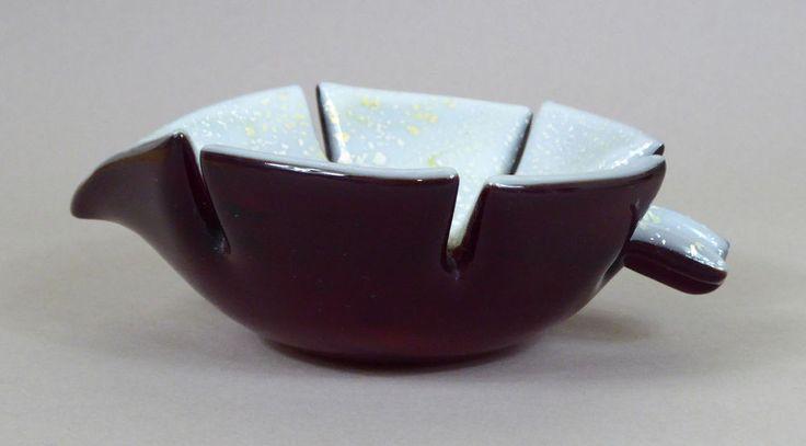 Murano Glas Schale 60er Jahre Italien Gold Silber Venetian Glass Bowl 60s Italy