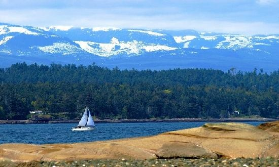 Looking at Vancouver Island from Denman Island, BC